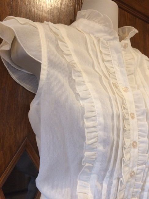 AB Studio Sheer Camisole Date Night Summer Top ivory Image 1