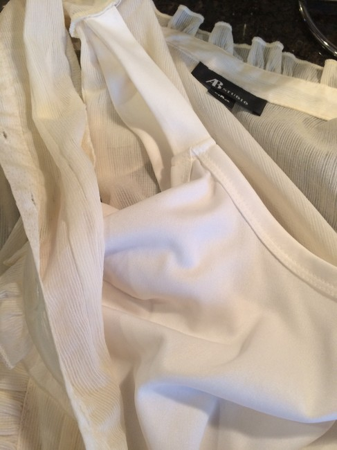 AB Studio Sheer Camisole Date Night Summer Top ivory Image 3