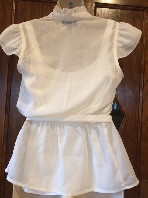 AB Studio Sheer Camisole Date Night Summer Top ivory Image 4