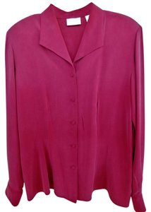 Nordstrom Preview COllection Silk Vintage Top Garnet