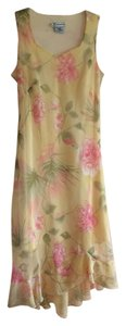 yellow floral Maxi Dress by dressbarn Floral Yellow Pink Sleeveless