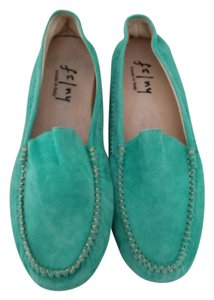 French Sole Comfortable Made In Italy turquoise Flats