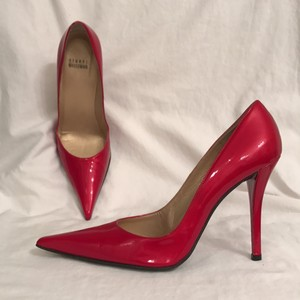 Stuart Weitzman Sexy Heels Leather Patent Leather Cushioned Red Pumps