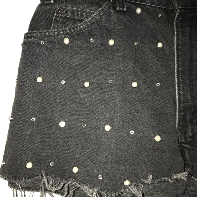 Urban Renewal Cut Off Shorts Black Image 1