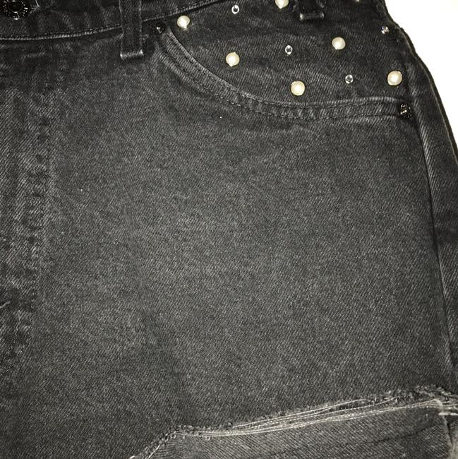 Urban Renewal Cut Off Shorts Black Image 2