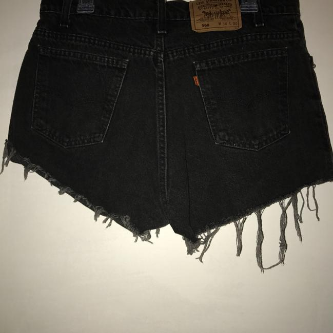 Urban Renewal Cut Off Shorts Black Image 3