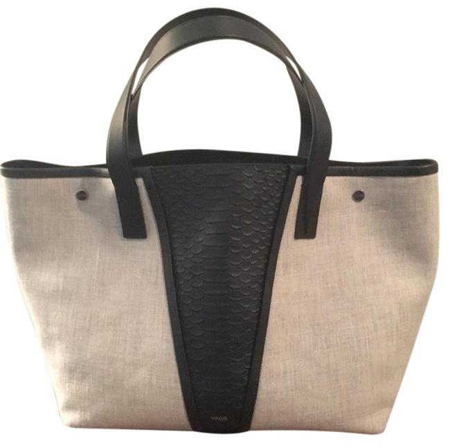 Item - Hv9201a111 Flax with Black Linen Leather Satchel