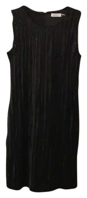 Preload https://img-static.tradesy.com/item/21286655/calvin-klein-black-sleeveless-organza-and-sequin-short-cocktail-dress-size-10-m-0-1-650-650.jpg
