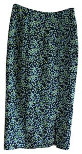 Gap Blue Floral Pattern Rayon Maxi Skirt MULTI COLOR