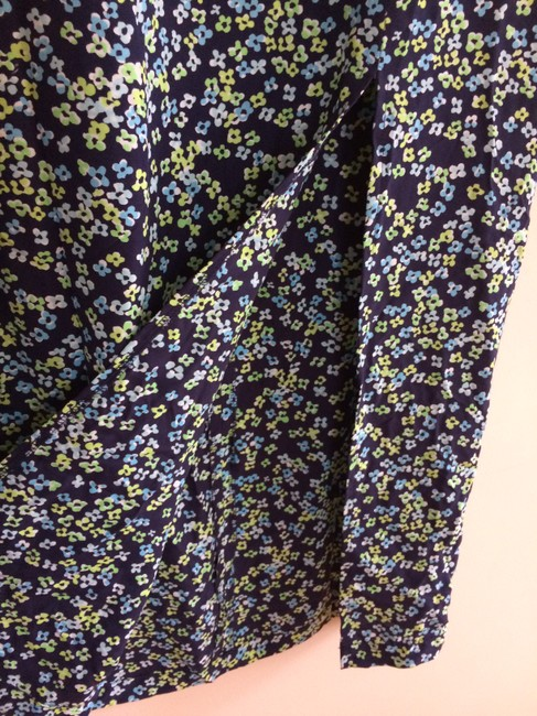Gap Blue Floral Pattern Rayon Maxi Skirt MULTI COLOR Image 1