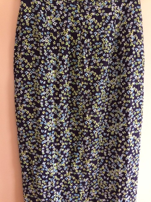 Gap Blue Floral Pattern Rayon Maxi Skirt MULTI COLOR Image 2