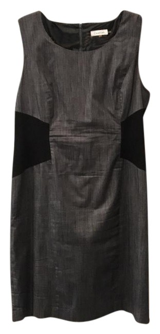 Item - Grey and Black Color Sleeveless Shift Short Work/Office Dress Size 16 (XL, Plus 0x)