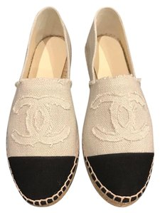 Chanel Espadrille Canvas Classic Ballerina beige Flats