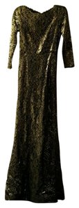 Gold and Black Maxi Dress by Alice + Olivia