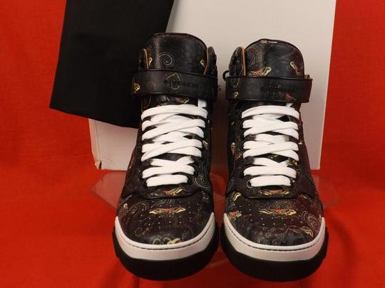 Givenchy Black Mens Tyson Leather Moth Paisley Hi Top Sneakers 45 12 Shoes Image 3