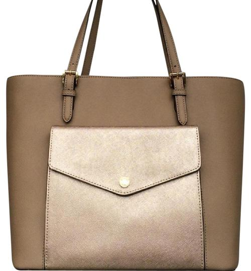 Preload https://img-static.tradesy.com/item/21287002/michael-kors-sale-jet-set-lg-pocket-mf-pearl-silver-pvc-tote-0-1-540-540.jpg