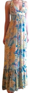 Anthropologie Wedding Guest Tropical Floral Ruffle Formal Dress