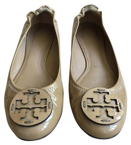 Tory Burch Patent Leather Tan/Nude Flats