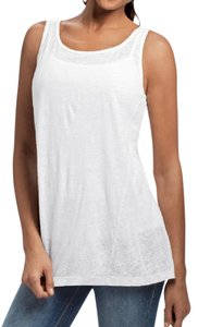 CAbi Linen Simple Top White