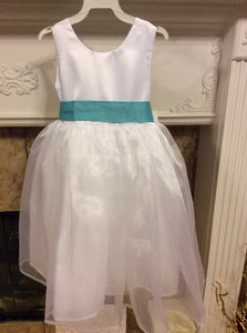 Size 4 White Flower Girl Dress