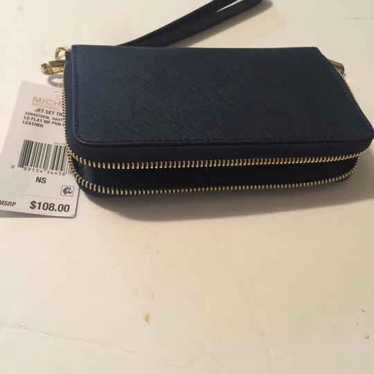 Michael Kors Wristlet in Navy Image 4