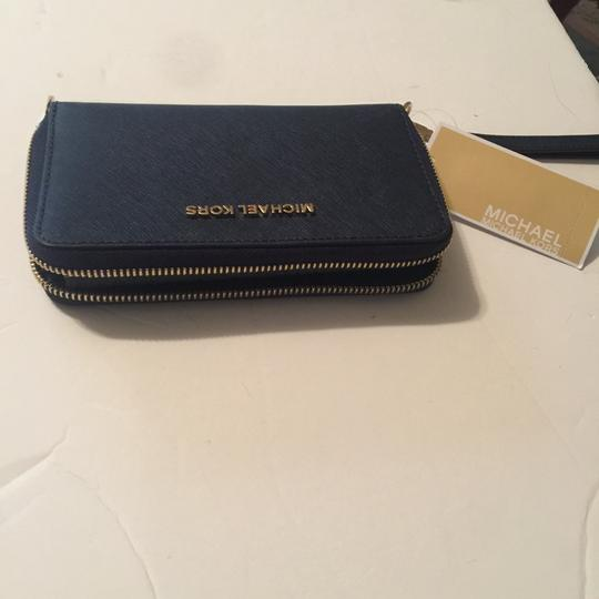 Michael Kors Wristlet in Navy Image 5