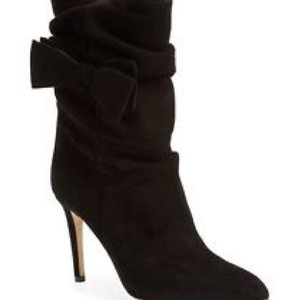 Kate Spade Chic Suede Black Boots