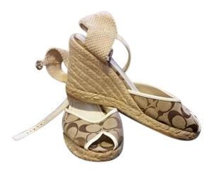 Coach tan and white Sandals