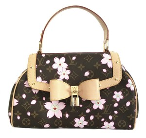 Louis Vuitton Sac Retro Cherry Blossom Limited Edition Monogram Satchel in Brown