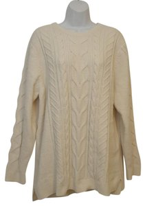 J. Jill Generous Fit Relaxed Fit Cable Knit Soft Chenille Sweater