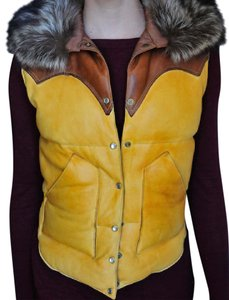 Rocky Mountain Featherbed Vintage Fur Goose Down Vest
