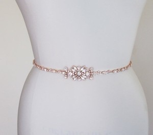 Rose Gold Crystal Applique And Sashes