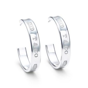 Tiffany & Co. Tiffany 1837 Hoop Earrings - Med size
