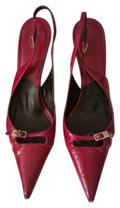 Dior Christian Patent Leather Stiletto Burgundy Pumps