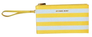 Michael Kors Wristlet in Yellow and white