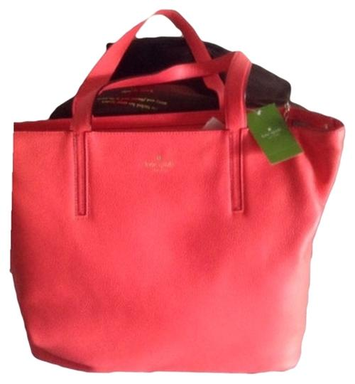 Kate Spade Tote in Pink With Black Piping
