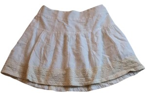 American Eagle Outfitters Mini Skirt White with pattern on bottom