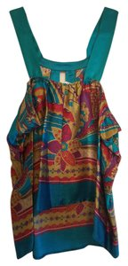 Single Silk New Top Pucci inspired print