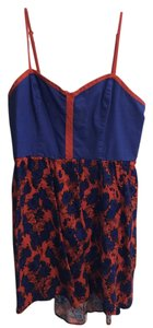 COPE short dress red and blue Rose Sun on Tradesy