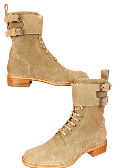 Item - Camel/Tan Mens Amory Suede Lace Up Belted 2x Buckle Combat Boots 43 10.5 Shoes