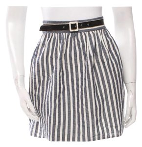 Alice + Olivia Mini Skirt Navy and Creme