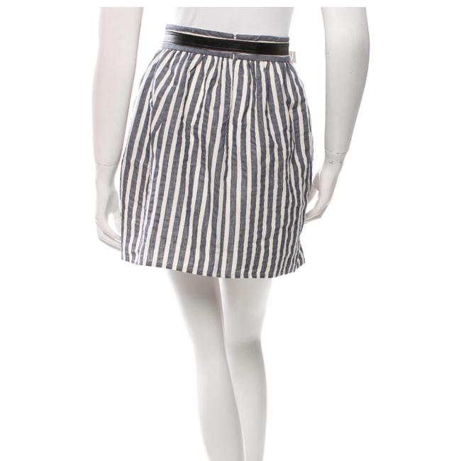 Alice + Olivia Mini Skirt Navy and Creme Image 1