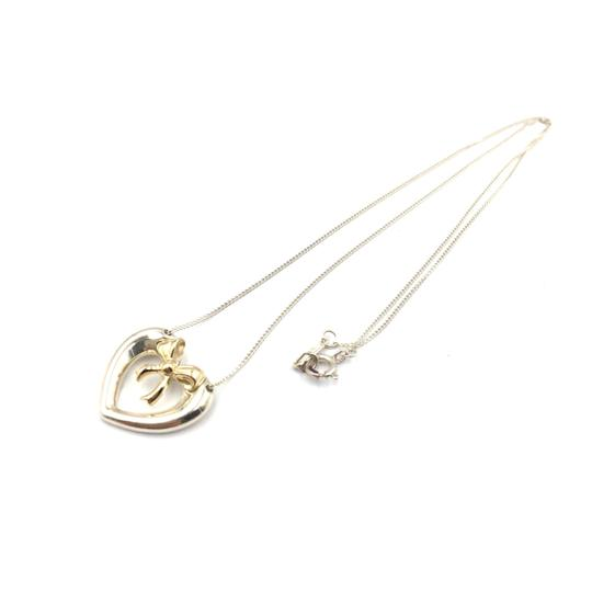 Tiffany & Co. Vintage Tiffany Heart and Bow 18k Gold Pendant Necklace Image 1