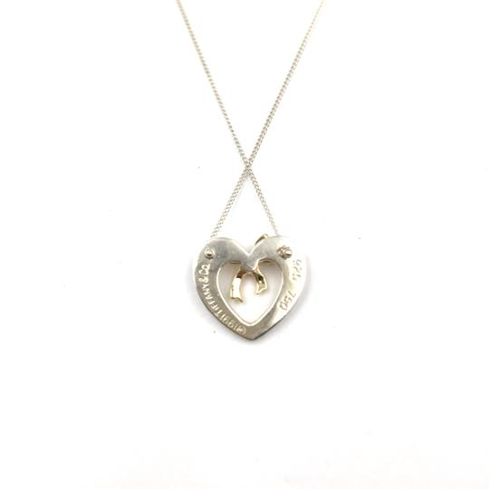 Tiffany & Co. Vintage Tiffany Heart and Bow 18k Gold Pendant Necklace Image 2
