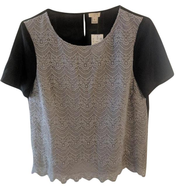 Preload https://img-static.tradesy.com/item/21288342/jcrew-grey-and-black-factory-lace-panel-tee-style-b0090-night-out-top-size-8-m-0-4-650-650.jpg