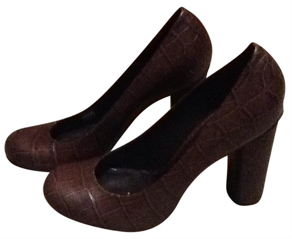 Tory Brown Burch Brown Tory Leather Croc Print Pumps bbd1a7