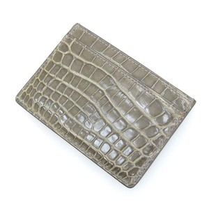 9a5613019469 Louis Vuitton Grey Crocodile Leather Card Holder Wallet - Tradesy