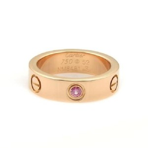 Cartier rose gold pink sapphire love ring