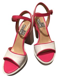 Love Moschino White/pink Sandals