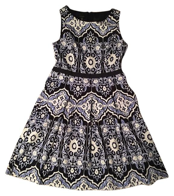 Preload https://img-static.tradesy.com/item/21288575/talbots-navy-blue-blue-and-white-fit-flare-mid-length-short-casual-dress-size-12-l-0-3-650-650.jpg